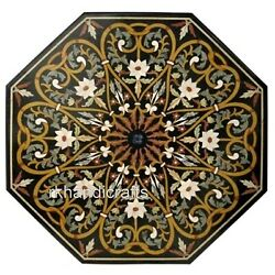 Octagon Marble Kitchen Table With Elegant Look Dinning Table Mosaic Art For Home