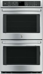 Ge Cafe Ct9550shss 30 Inch Double Electric Wall Oven Stainless Steel