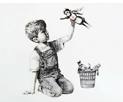 Banksy graffiti art The Game Changer Giclee Canvas Print 12quot;x16quot; $15.99