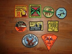 Michigan Successful Deer Hunting Patch 1978 Through 1986 Choice Of 1