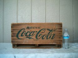 Vintage Coca Cola Wood Crate Green Lettering - Coke Is The Friendly Abbreviation