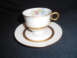 4 Antique Haviland Kenmore New York Demi Cup And Saucer Sets