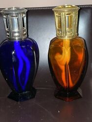 Lampe Berger Athena Catalytic Oil Lamp Amber/cobalt Blue Glass Your Choice