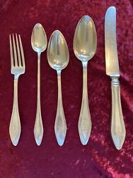 Antique Pat 1912 Sterlingserving And Soup Spoonteaspoon Fork And Butter Knife
