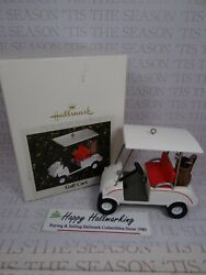 Hallmark Tributes Test Ornament 2008 Rare Golf Cart Not Sold Not For Resell