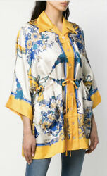 Floral Silk Shirt Blouse- With Tags- Rrp3,360 Aud