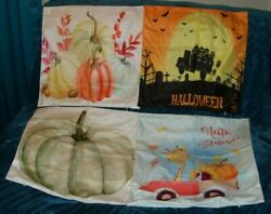 Musesh Decorative Autumn Pillow Covers 20x20 Inches Soft Pumpkin Set of 4 New