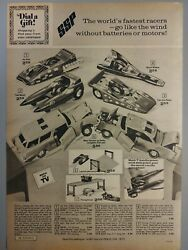 1972 Vintage Paper Print Ad Ssp Super Sonic Power Racing Derby Car Toy Projector