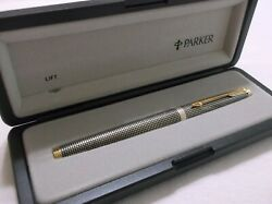 Parker 75 Sterling Silver Fountain Pen 14k Gold F Pt New In Box Made In France