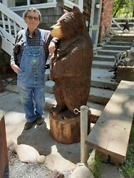 Chainsaw Carving Rustic Bear 5' To 6'