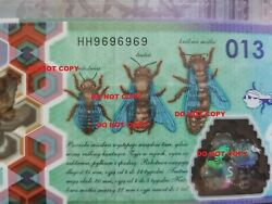 Test Note Pwpw Poland Bee Version Hh Black Limited Edition Polymer Extreme Rare