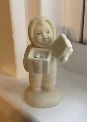 Department 56 Snowbabies A Gift For You April Diamond Figurine No Box