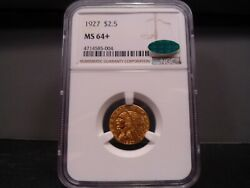 1927 Ms64+ Plus Indian Quarter Eagle Ngc/cac Certified Near Gem - Pq