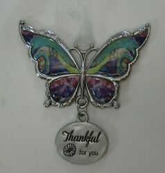 F Thankful for you BUTTERFLY ORNAMENT GANZ