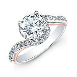Round Cut 1.00 Ct 950 Platinum Real Diamond Proposal Ring For Women's Size 5 6 7