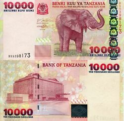Tanzania 10000 Shillings Banknote World Paper Money Unc Currency Pick P39 2003