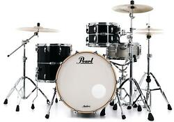 Pearl Masters Maple Complete 3-piece Shell Pack - 22 Kick - Quicksilver Black