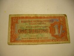 1948 Great Britainmilitary1 Shilling Banknote
