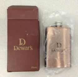 John Dewars's And Son Scotch Whiskey 4oz Stainless Flask