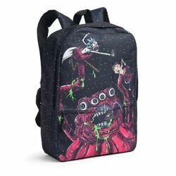 Rick and Morty Space Monster Backpack School Kids Adult Swim 17quot; tall x 12 LE $39.93