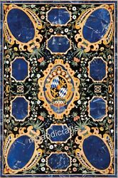 Marble Lawn Table Top Heritage Art Meeting Table With Pietra Dura Art For Home