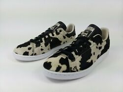 Adidas Originals Stan Smith Fuzzy Spotted Print Black Womenand039s Size 9.5 New