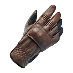Biltwell Borrego Motorcycle Gloves, Leather, Braun, Size Xxl Ce Approved
