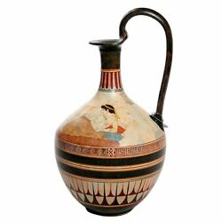 Couple Dining On Couches Greek Vase P Vaglis Imported Greece Museum 13.25h