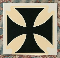 Vintage Iron Cross Water Decal 1960's Surf Hot Rod Woodie Wagon Surfer Old Car