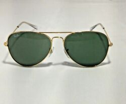 Ray Ban RB3025 Aviator Classic L0205 Gold Frame Green Classic G 15 Lenses 58mm $45.70
