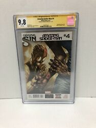 Amazing Spiderman 4 CGC 9.8 First Silk signed by Humberto Ramos