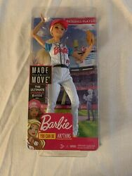 Barbie Career Baseball Player Made To Move - 2018- You Can Be Anything - New