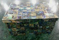Abalone Shell Stone Work Jewelry Box Marble Trinket Box For Sister 4 X 3 Inches
