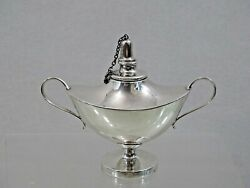 Gorgeous Antique Sterling Silver Table Cigar Lighter / Lamp Smoking Fine Quality