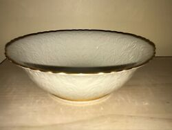 Lenox Usa 9.5 Centerpiece Bowl Tapestry Collection Ivory Decorated W/ 24k Gold