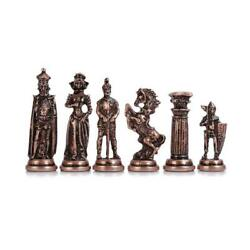 Only Chess Pieces Medieval British Army Antique Copper Handmade Cool Chess Pie