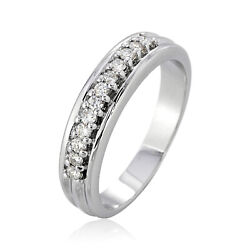 0.24ct Round Diamond Ring G-color White Gold Jewelry 18k Authentic Prong Setting