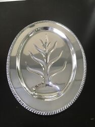 16 Avon Wm Rogers Silver Plate Meat Carving Serving Platter Reservoir Tray 3610