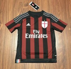 Ac Milan Adidas Football Soccer Jersey Youth Large New With Tags