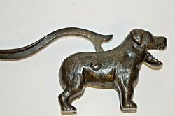 Early 20th Century Antique Cast Metal Novelty Figural Dog Nut Crackers,c1930