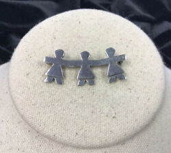 Vintage Sterling Silver 925 Persons Pin Dd839