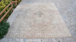 Turkish Oushak Rug 6and0394and039and039x9and0393and039and039 Vintage Faded Color Medallion Oriental Design 6x9