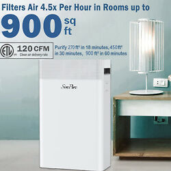 Large Room Air Purifier For Allergies Air Cleaner Medical Grade H13 Hepa Filter