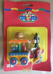 Vintage Sealed Mickey For Kids Pollyflame Burger Fries Drink Wagon Pull Back...