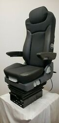 Prime Touring Comfort Tc300c Black Cloth With Leather Accent Air Ride Seat