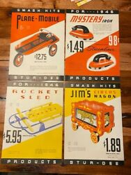 Vintage 1946 Stur-dee Circus Wagon Sled Garage Trailer Record Iron 4pgs Toy Ad