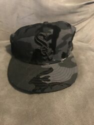 Chicago White Sox Hat Black Camo Hat Fitted Size 7 56.8 Cm