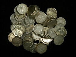Lot Of 100 Roosevelt Dimes , 90 Silver Coin Lot , Circulated , Choose How Many