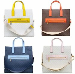 Michael Kors Kenly Large North South Tote PVC Leather Crossbody MK Signature $128.00