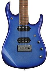 Ernie Ball Music Man Jp15 7 Electric Guitar - Pacific Blue Sparkle Sweetwater